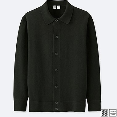 MEN UNIQLO U COTTON CASHMERE LONG SLEEVE SHIRT CARDIGAN