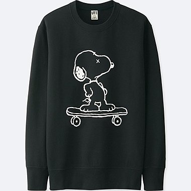 MEN KAWS X PEANUTS SWEATSHIRT, BLACK, medium