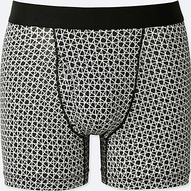 MEN AIRism SPRZ NY BOXER BRIEFS (FRANCOIS MORELLET), BLACK, medium