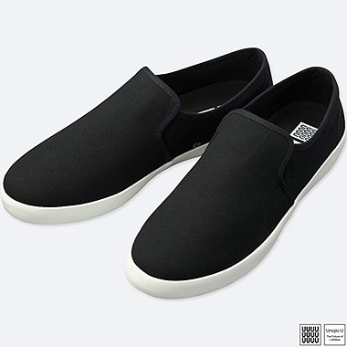 MEN U SLIP-ON SNEAKERS, BLACK, medium