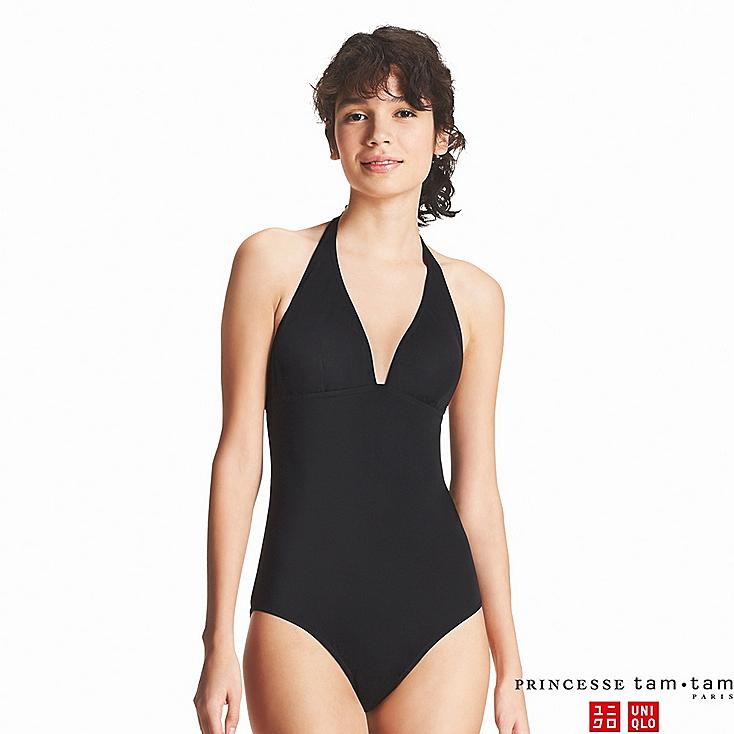 WOMEN PRINCESSE TAM.TAM SWIM HALTER ONE-PIECE, BLACK, large