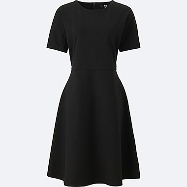 women ponte half sleeve dress
