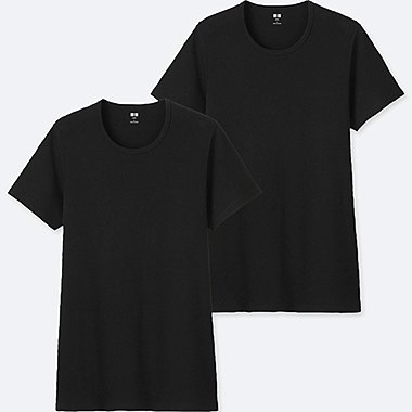 MEN SUPIMA COTTON CREW NECK SHORT SLEEVE T-SHIRT (2 PACK)