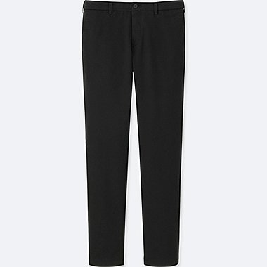 MEN SLIM-FIT CHINO FLAT FRONT PANTS, BLACK, medium