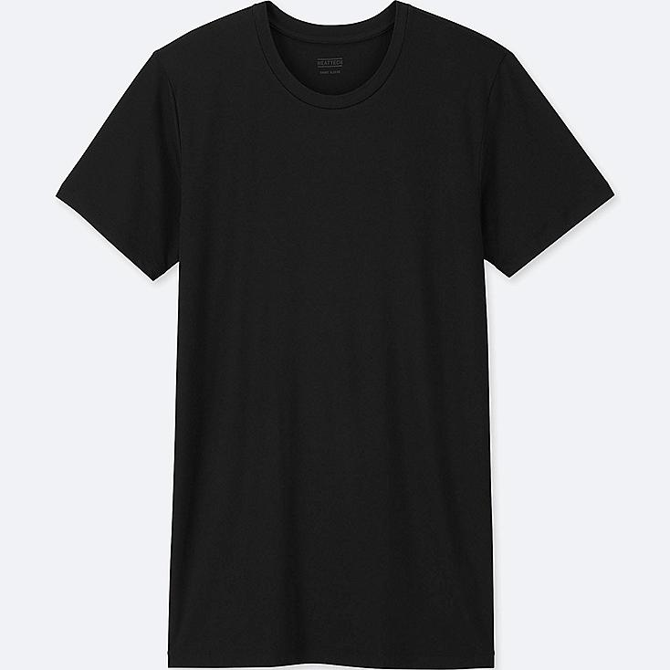 MEN HEATTECH CREW NECK SHORT-SLEEVE T-SHIRT, BLACK, large