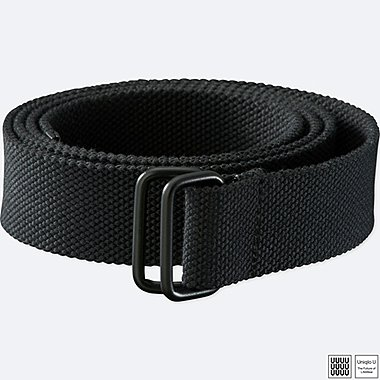 MEN U TAPE BELT, BLACK, medium