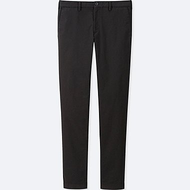 MEN SLIM-FIT CHINO FLAT-FRONT PANTS, BLACK, medium