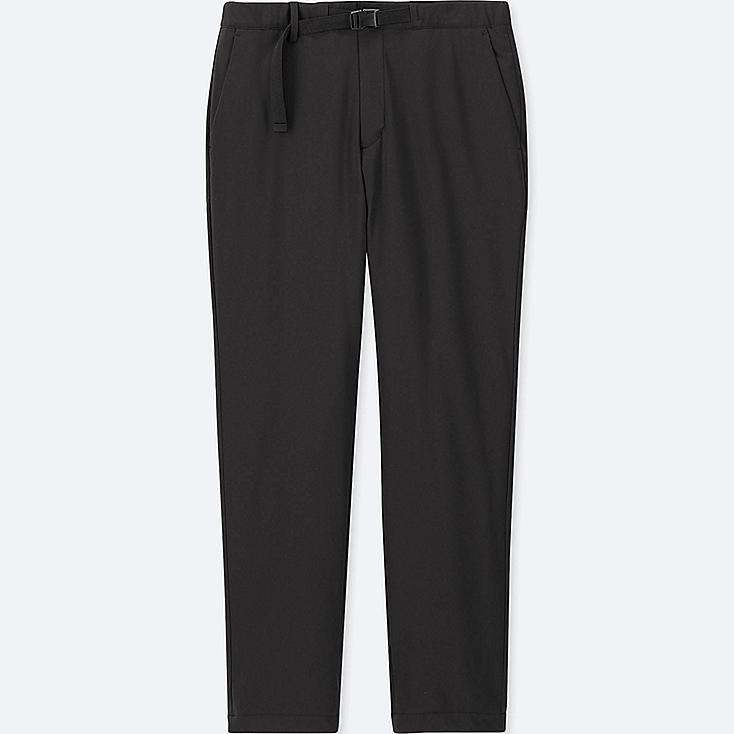 MEN WINDPROOF WARM-LINED PANTS (ONLINE EXCLUSIVE), BLACK, large