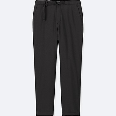 MEN WINDPROOF WARM-LINED PANTS (ONLINE EXCLUSIVE), BLACK, medium