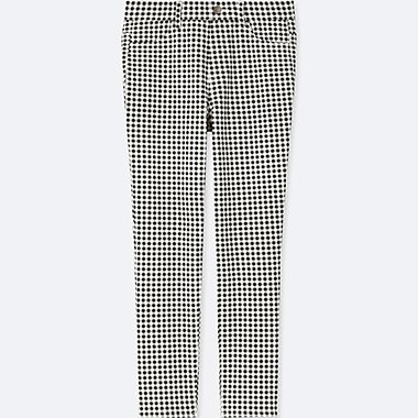 WOMEN PRINT CROPPED LEGGINGS TROUSERS