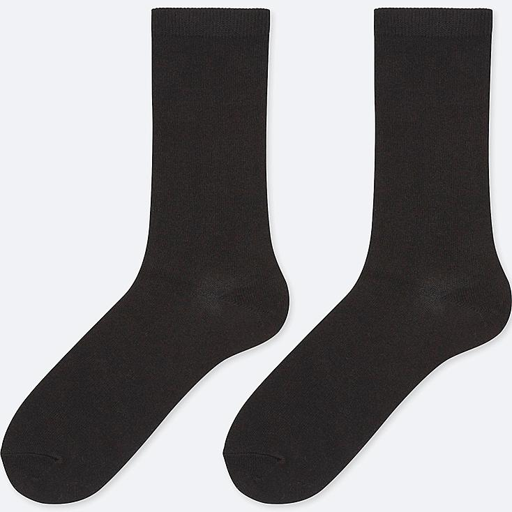 WOMEN HEATTECH SOCKS (2 PAIRS), BLACK, large