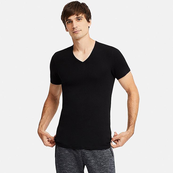 Herren Cotton AusschnittUniqlo Supima T Shirt V MVLqSpjGUz