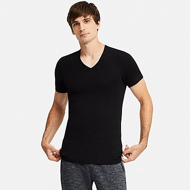 MEN SUPIMA COTTON V NECK SHORT SLEEVED T-SHIRT (2 PACK)