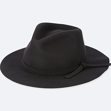 WOMEN WOOL WIDE BRIM HAT