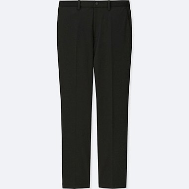 MEN EZY ANKLE-LENGTH PANTS (DRY-EX), BLACK, medium