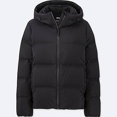 WOMEN SEAMLESS DOWN HOODED PARKA