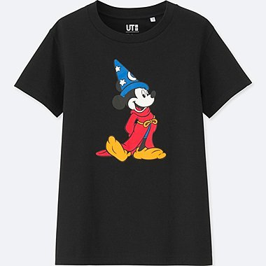 WOMEN DISNEY FANTASIA COLLECTION GRAPHIC T-SHIRT, BLACK, medium