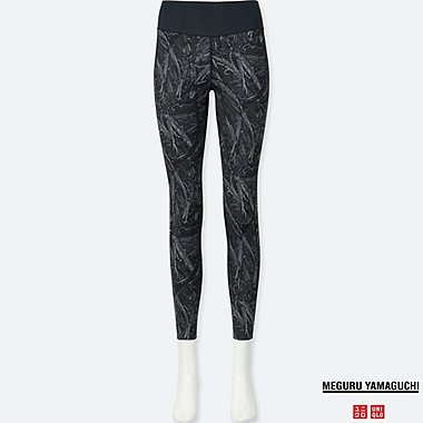 WOMEN AIRism PRINTED LEGGINGS TROUSERS