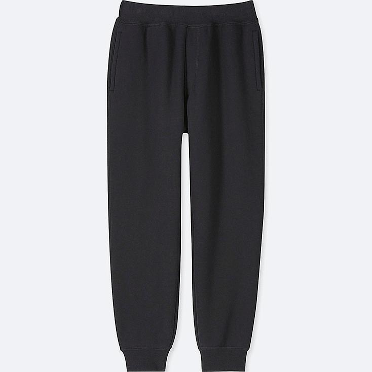 KIDS PILE-LINED SWEATPANTS, BLACK, large
