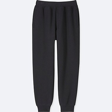 KIDS PILE-LINED SWEATPANTS, BLACK, medium