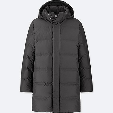 MEN SEAMLESS DOWN COAT, BLACK, medium
