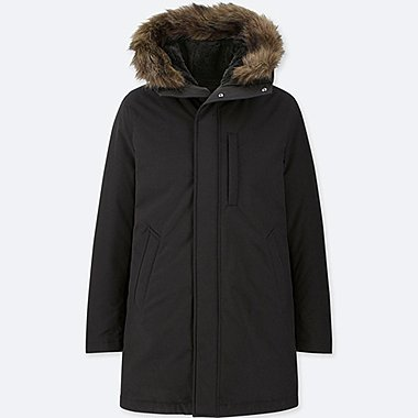 MEN ULTRA WARM DOWN HOODED COAT