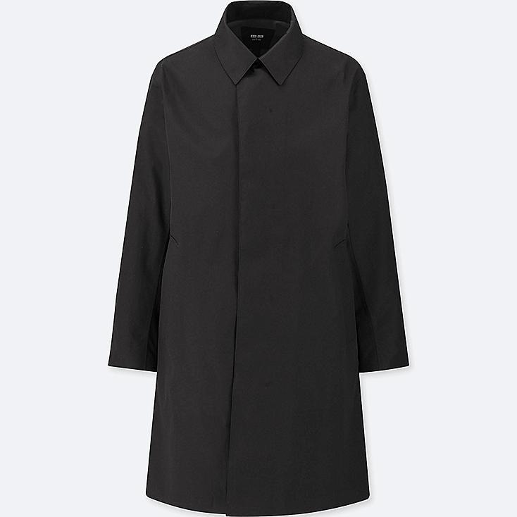 MEN BLOCKTECH CONVERTIBLE COLLAR COAT, BLACK, large