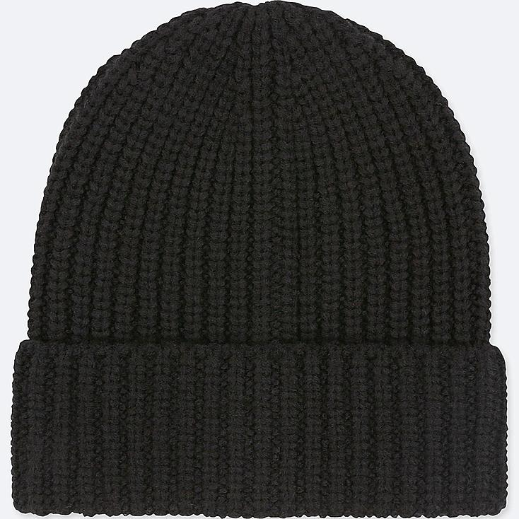 HEATTECH KNITTED CAP, BLACK, large