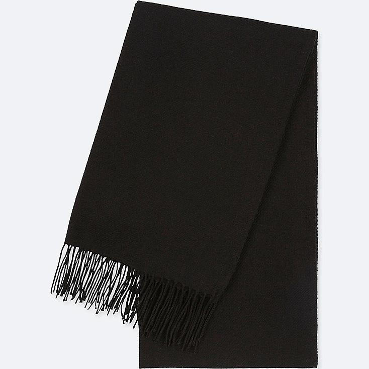 HEATTECH SCARF, BLACK, large
