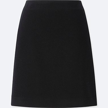 WOMEN WOOL BLEND HIGH WAISTED MINI SKIRT