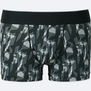 MEN AIRism SPRZ NY LOW-RISE BOXER BRIEFS (NIKO LUOMA), BLACK, medium