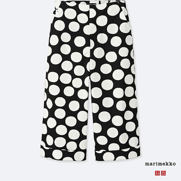WOMEN MARIMEKKO 100% COTTON WIDE CROPPED TROUSERS