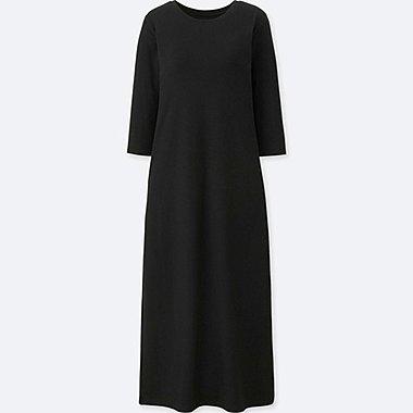 WOMEN 3/4 SLEEVE BRA DRESS (ONLINE EXCLUSIVE), BLACK, medium