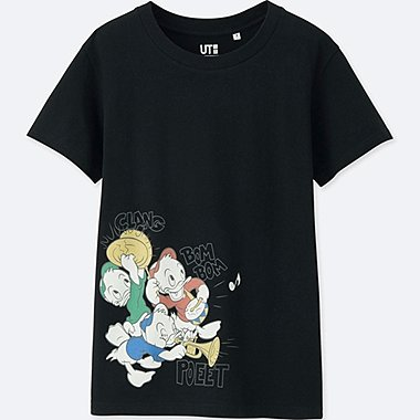 WOMEN SOUNDS OF DISNEY SHORT-SLEEVE GRAPHIC T-SHIRT, BLACK, medium