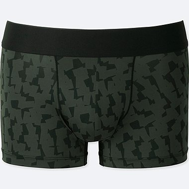 MEN SPRZ NY AIRism LOW-RISE BOXER BRIEFS (FRANCOIS MORELLET), BLACK, medium