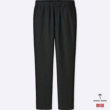 MEN COTTON POPLIN RELAXED PANTS, BLACK, medium