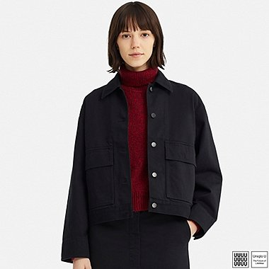 WOMEN UNIQLO U WORK DENIM JACKET