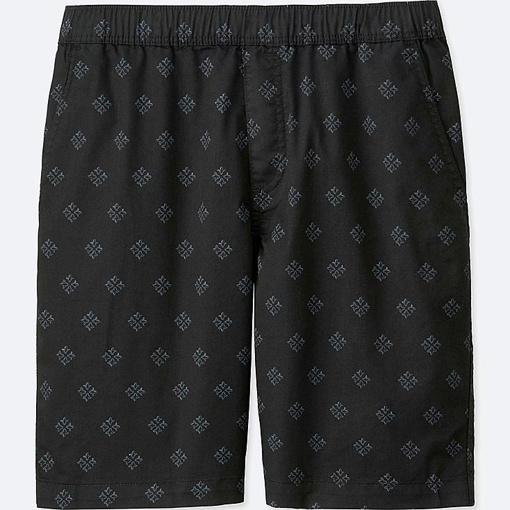 MEN DRY STRETCH WOVEN EASY SHORTS, BLACK, large