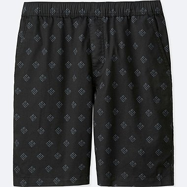 MEN DRY STRETCH WOVEN EASY SHORTS, BLACK, medium