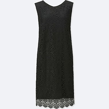 WOMEN LACE SLEEVELESS DRESS