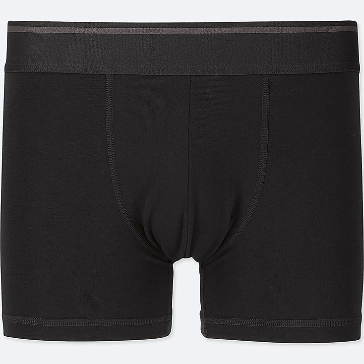 MEN SUPIMA® COTTON LOW-RISE BOXER BRIEFS, BLACK, large
