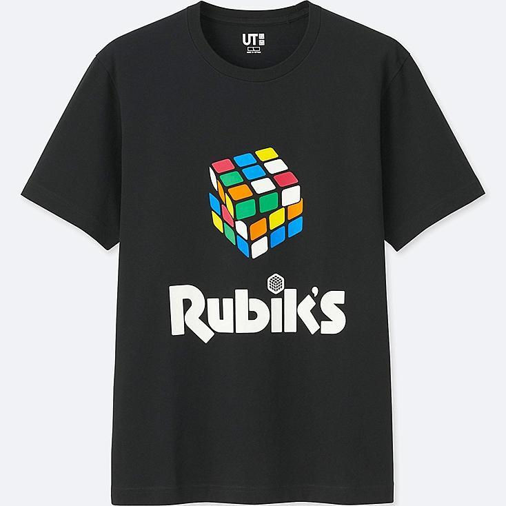 THE BRANDS SHORT-SLEEVE GRAPHIC T-SHIRT (RUBIK'S), BLACK, large