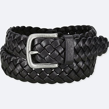 MEN ITALIAN LEATHER WOVEN WIDE BELT