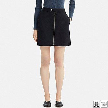 Damen U Minirock aus Baumwolle mit Reißverschluss