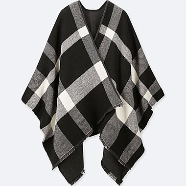 WOMEN 2WAY STOLE (BIG CHECKED)