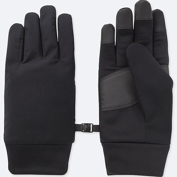 MEN HEATTECH-LINED FUNCTION GLOVES, BLACK, large