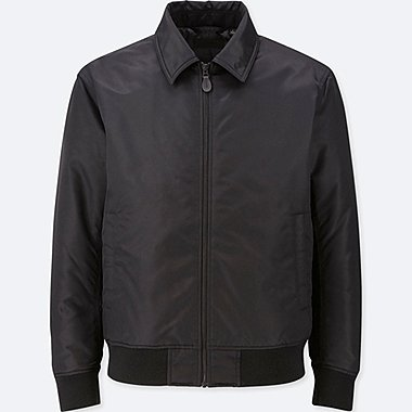 MEN FLIGHT JACKET, BLACK, medium