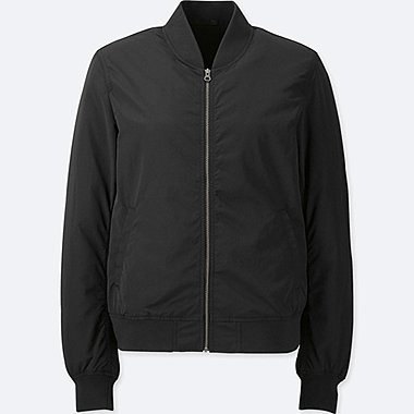 WOMEN RIBBED BLOUSON JACKET