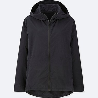 WOMEN HOODED NYLON PARKA