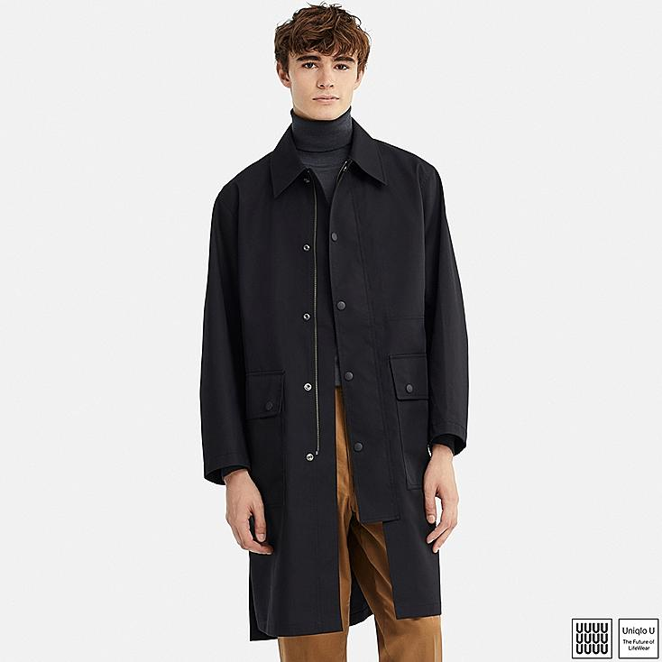 MEN U BLOCKTECH COAT, BLACK, large
